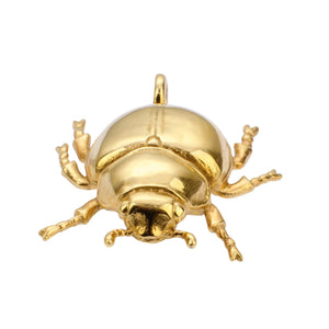 Beetle gold plated handmade in NY necklace