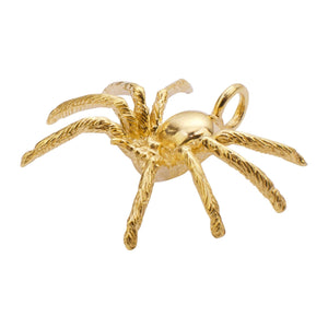 Hairy Spider Necklace handmade in NY Gold