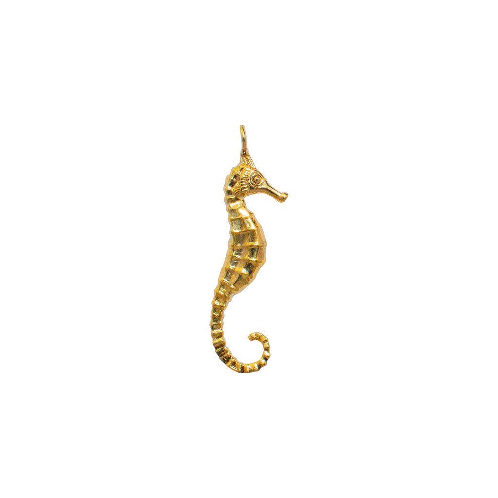 Seahorse sea creature necklace gold plated handmade in NY necklace