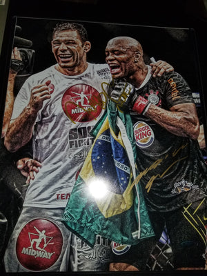 Anderson Silva & Big Nog Dual Signed 11X14
