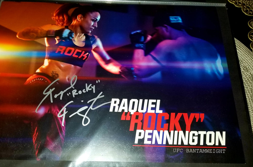 Raquel Pennington Signed Photo Autograph Signed UFC COA MMA