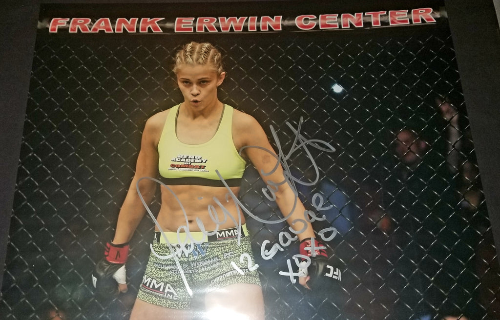 Paige VanZant Signed 11x14 Photo Autograph Signed W/ Inscription UFC COA MMA