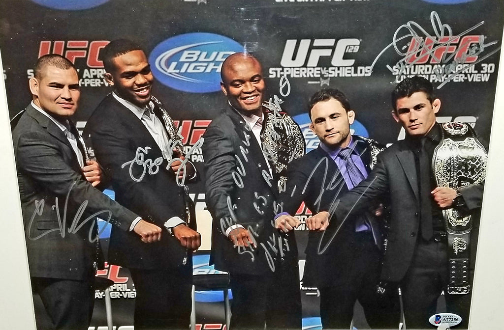 UFC CHAMPS Dual Signed 11x14 Photo Autograph Signed UFC COA MMA