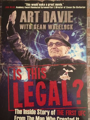 Art Davie Sean Wheelock UFC Founder Signed Book MMA COA Autograph Is This Legal