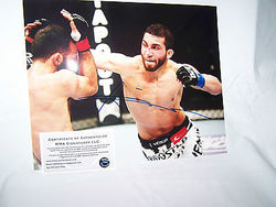 Alptekin Ozkilic Özkiliç UFC Signed 8x10 Photo MMA COA Autograph WEC Strikeforce