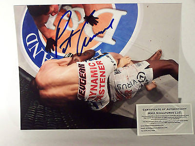 Pat Curran Bellator UFC Signed 8x10 MMA COA Autograph Signed Champion Strikeforce