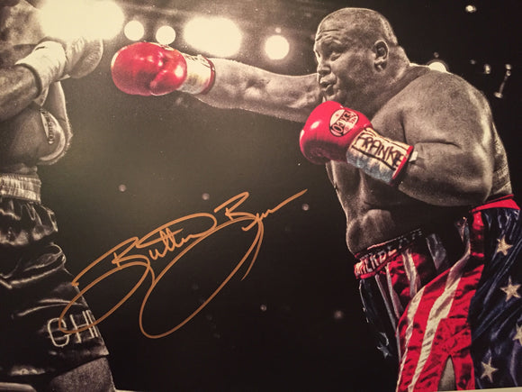 """Butterbean"" Eric Esch Signed Autograph 11x14 Photo UFC PSA COA"
