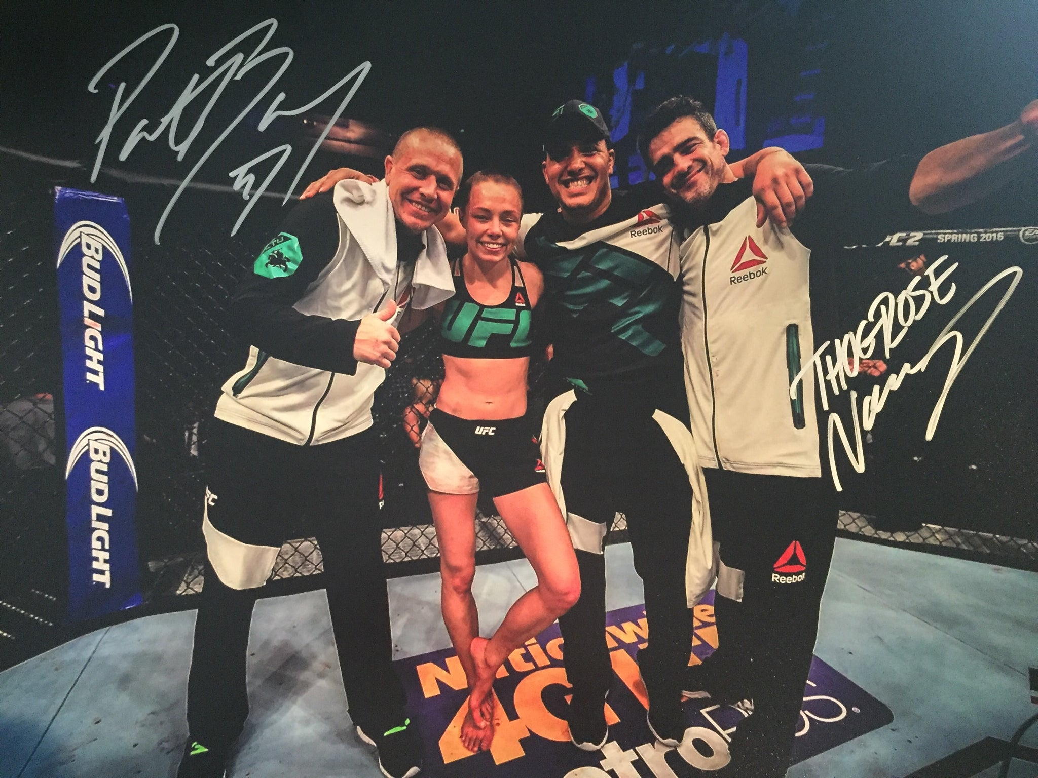 Rose Namajunas Pat Barry Dual Signed 16x20
