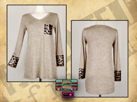 Miss Sequin Leopard Tunic
