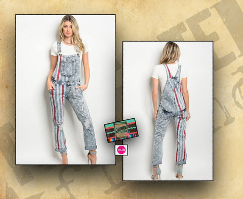 Miss Stars & Stripes Overalls