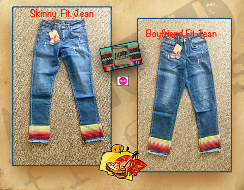 Miss  Serape Accent Jean