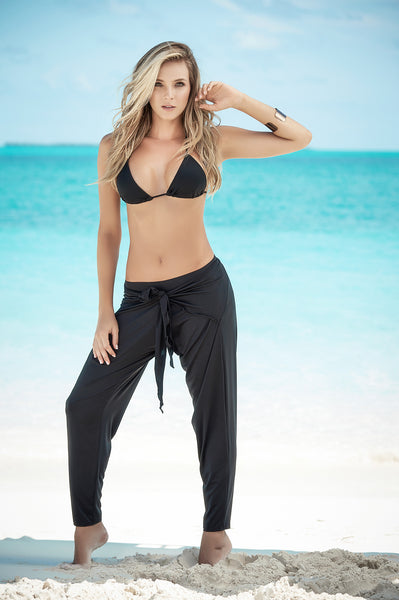 Front Draped Style Beach Pants-Resort Wear