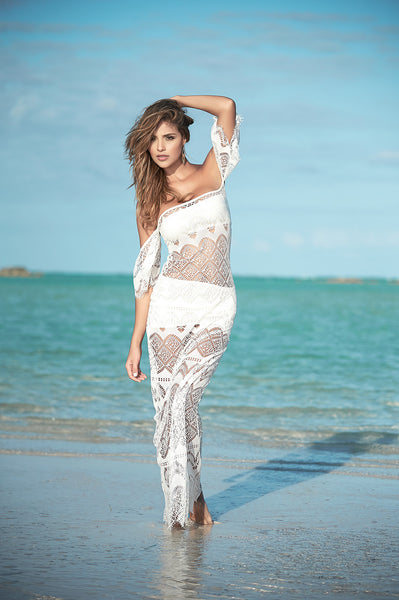 Beautiful Ivory Maxi Dress-Beach Dress