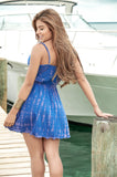 Royal Blue Sun Dress-Resort Wear