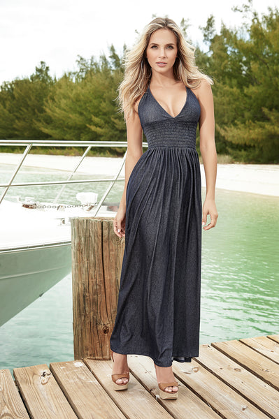 Denim Maxi Sun Dress