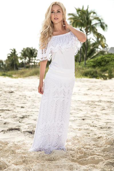 Summer Maxi Skirt & Top Great For That White Party