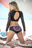 Long Sleeve Women Swim Set-Resort Wear