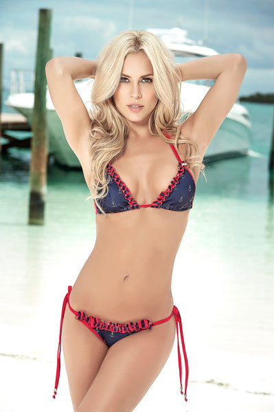 Blue Patriotic Bikini Set 4th of July Swimsuits