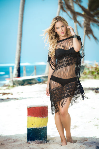 Sexy Strings Swimwear Cover Ups-Beachwear