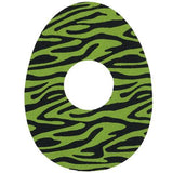 LIBRE LIME ZEBRA OVAL PATCH - FINAL SALE