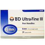 BD Ultrafine III 8mm 31G Pen Needle