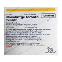 Novolin GE Toronto 5 x 3ml Cartridge