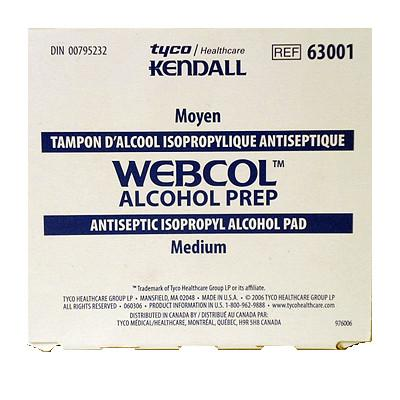 Webcol Alcohol Wipes