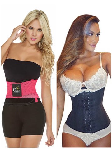 Latex Fitness Belt/Long Latex Cincher Bundle - Bombshell Curves