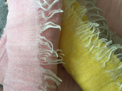 pale-pink-and-buttercup-linen-scarves