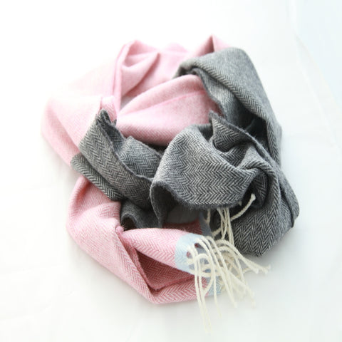 The Cashmere Wide Scarf - Lipstick Red