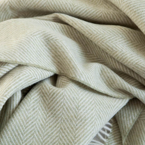 The Fine Herringbone Throw (Charcoal)