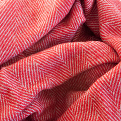 The Chunky Herringbone Throw (Cherry)