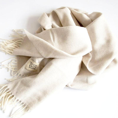 The Merino Scarf (Orange Grey)