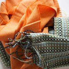 orange-basketweave-merino-wool-scarves