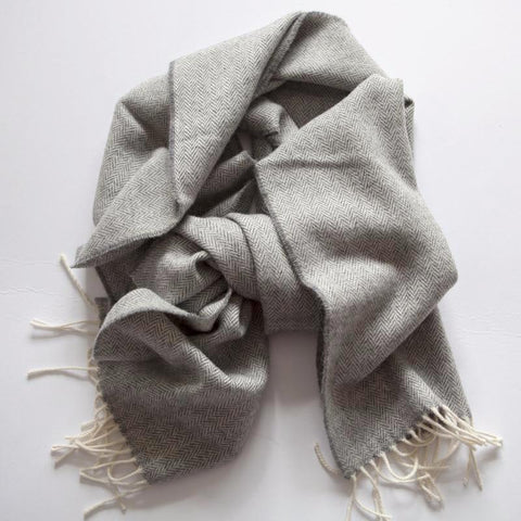 The Linen Scarf (Navy)