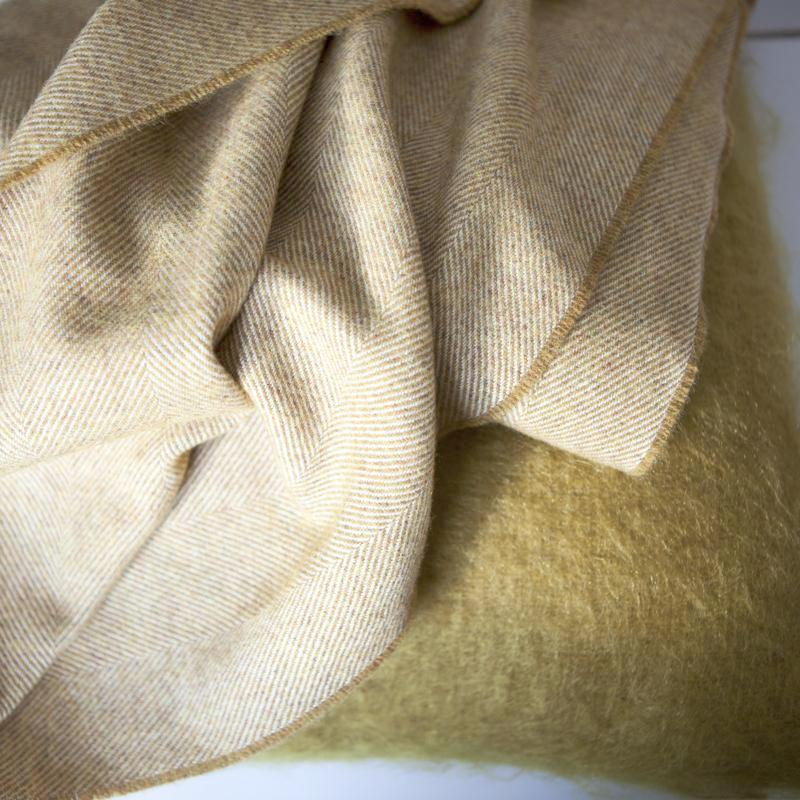 english-mustard-luxury-throw-mohair-cushion-gold