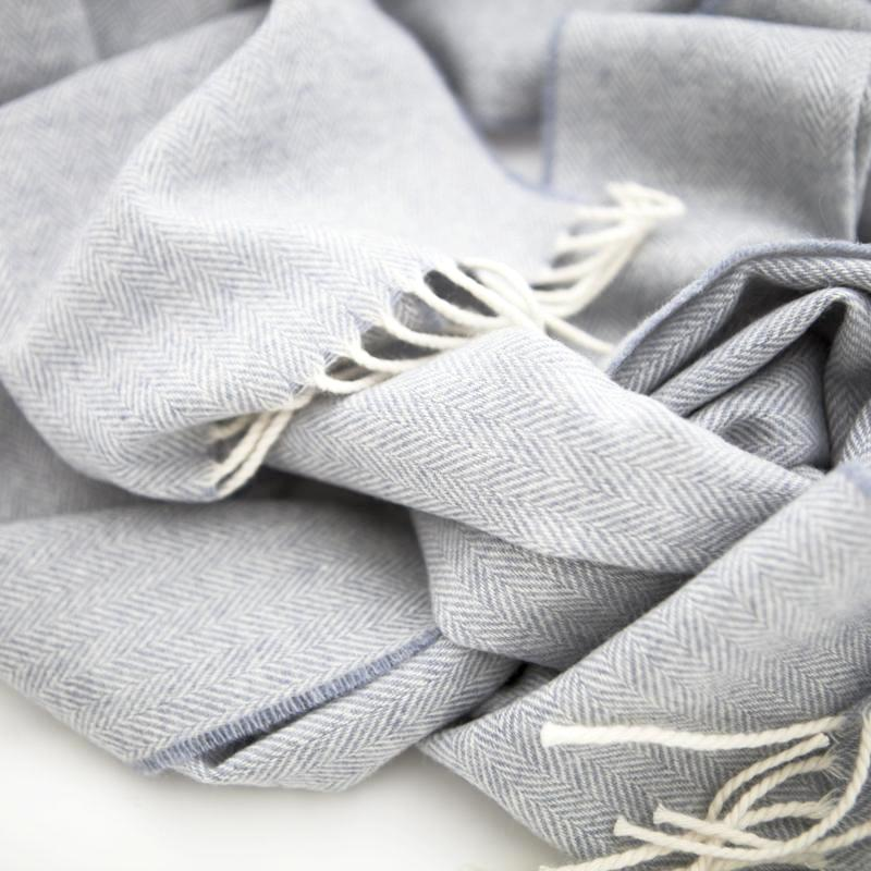smoke-blue-wool-scarf-herringbone