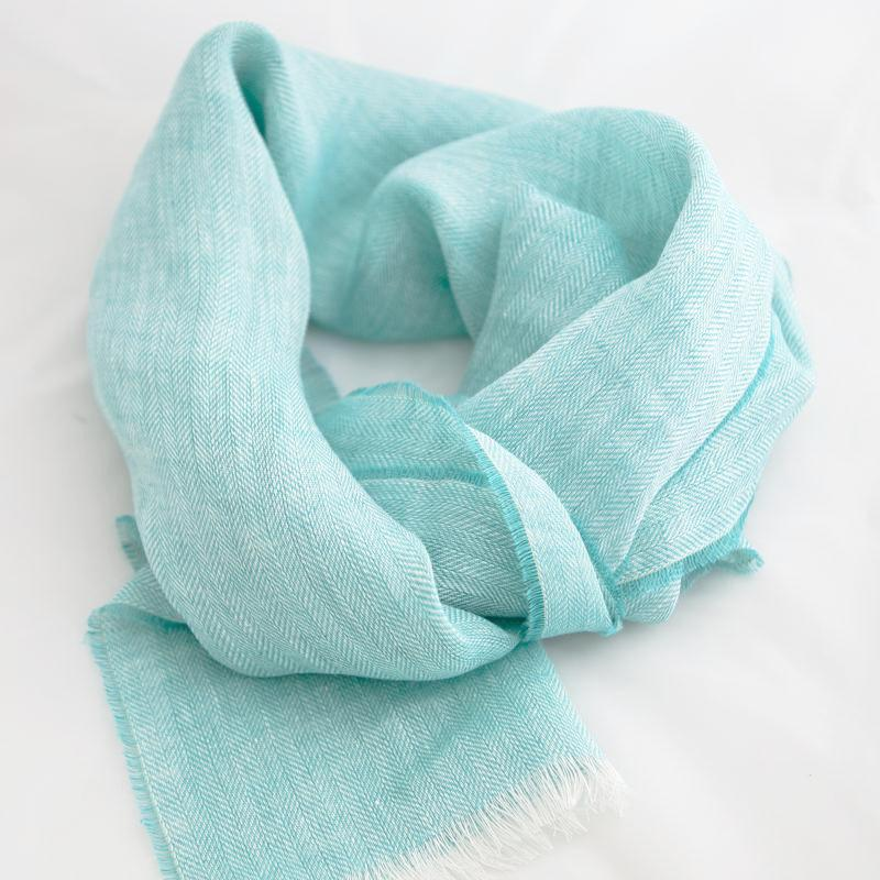 aqua-irish-linen-scarf