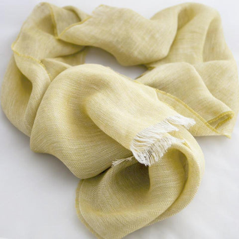citrus-yellow-linen-scarf