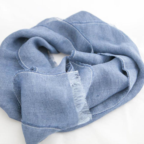 The Linen Scarf (Dove Grey)