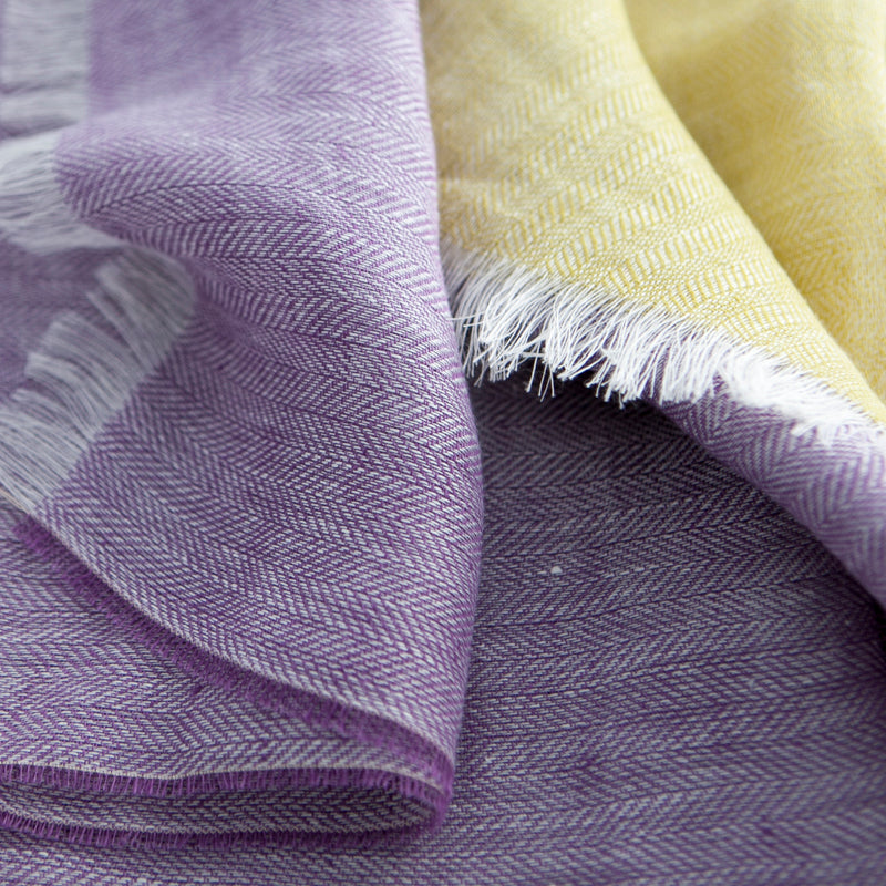 The Linen Scarf (Soft Lilac)