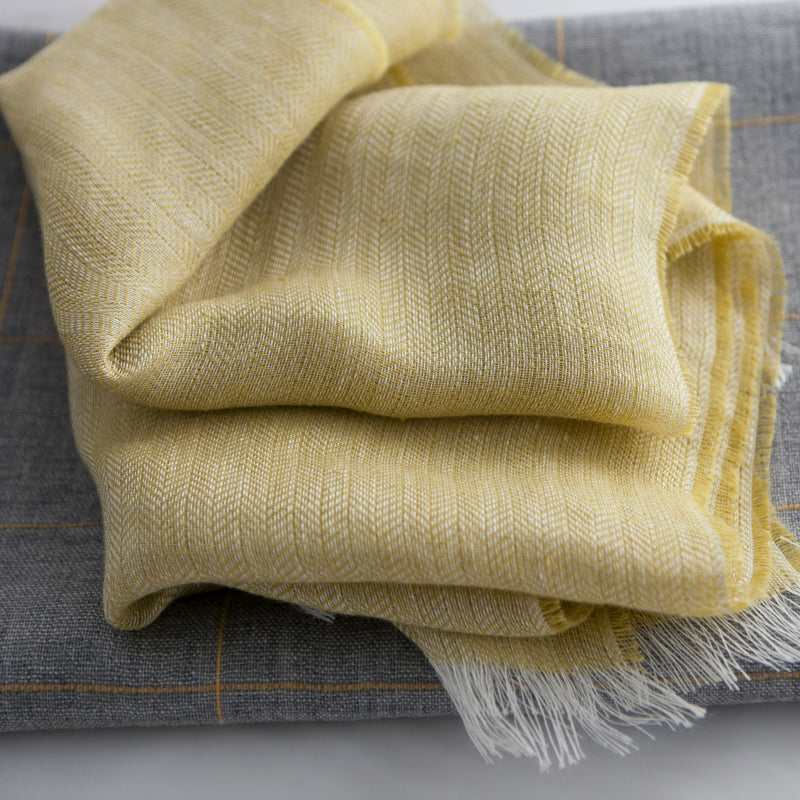 yellow-linen-summer-scarf