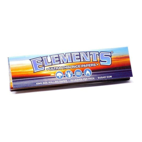 10 Packs Elements King Size Rolling Papers 10x Booklets - Accessory