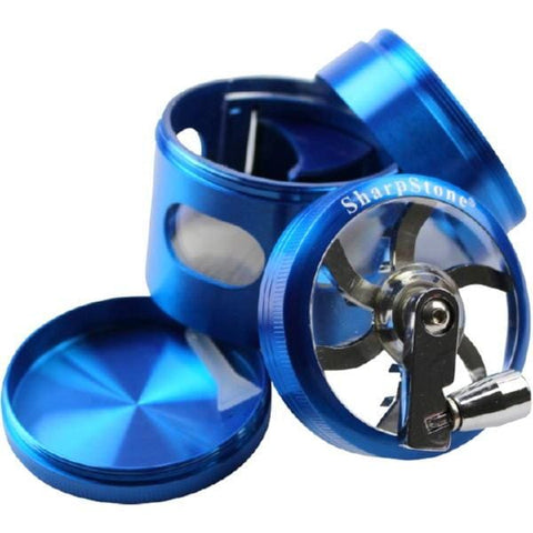 2.5 Limited Edition Sharpstone Grinder w/Crank & Magnetic Door - Blue - Unbranded - Accessory