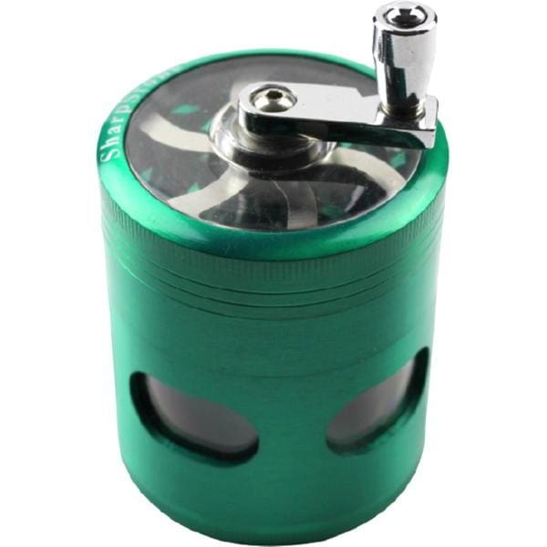 2.5 Limited Edition Sharpstone Grinder w/Crank & Magnetic Door - Green - Unbranded - Accessory