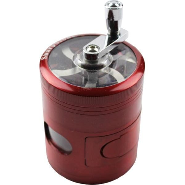 2.5 Limited Edition Sharpstone Grinder w/Crank & Magnetic Door - Red - SharpStone - Accessory