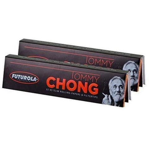 2 Packs Tommy Chong Futurola King Size Rolling Papers w/ Filter Tips - Elements