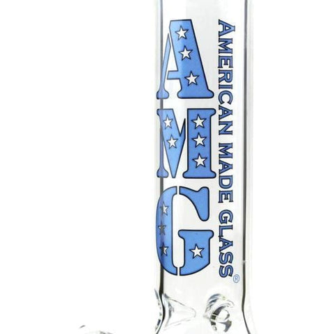 Image of AMG Glass Beaker Bong Water Pipe Rainbow Dots