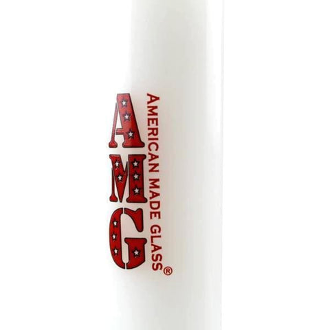AMG Glass Mini Dab Rig Water Pipe (White/Red)