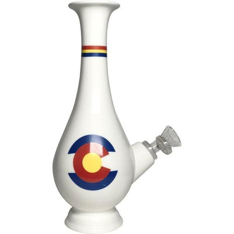 Ceramic Bong Water Pipe Unique Smoking Vase Colorado - Unbranded